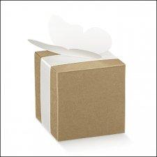 25 Cajas de regalo cuadradas kraft liso. 8x8x8 cms