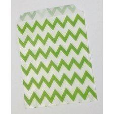 25 Sobres/bolsas de papel chevron 13x18.