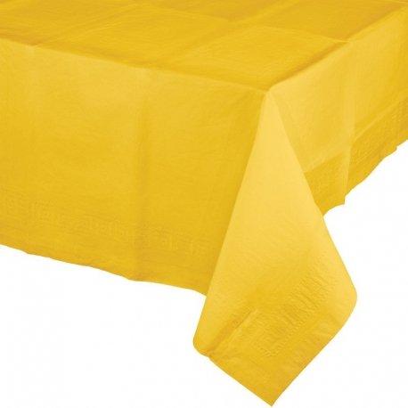 Mantel de papel amarillo 1.37x2.74 m