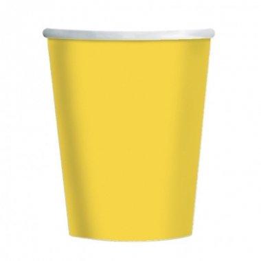 14 Vasos de papel-cartón amarillo
