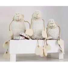 2 Ovejas de lana 8x14 cms