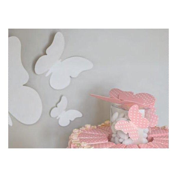 30 Mariposas lunares, rosa. Tamaños surtidos