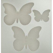 30 Mariposas lunares, gris. Tamaños surtidos