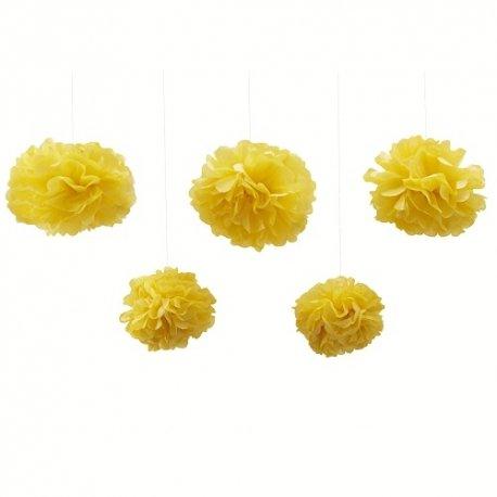 5 Pompones amarillos