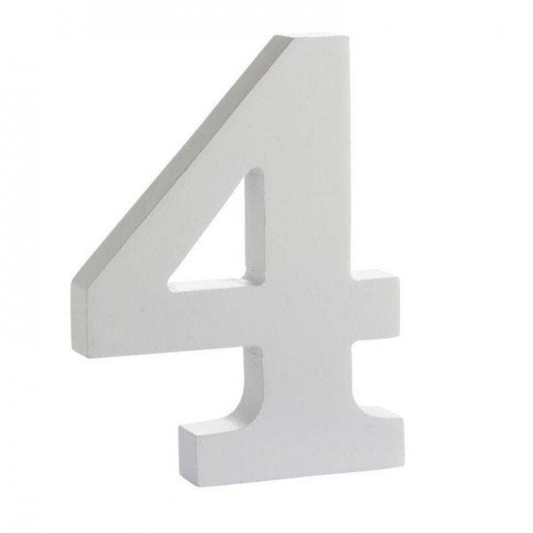 Número de madera blanca. 4
