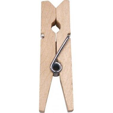 25 Pinzas de madera natural 35mm
