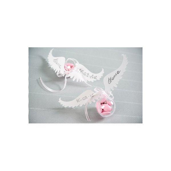6 alas de angel blancas.