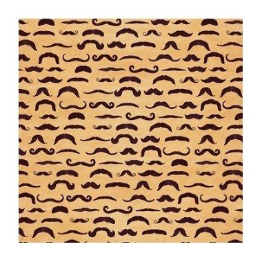 3 Hojas de papel para regalo, bigotes