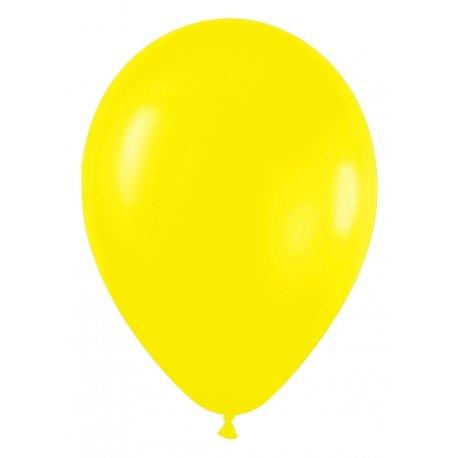 10 globos de látex, amarillo sólido. Disponibles en 3 tamaños