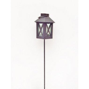 Porta velas - farol de hierro negro con pincho