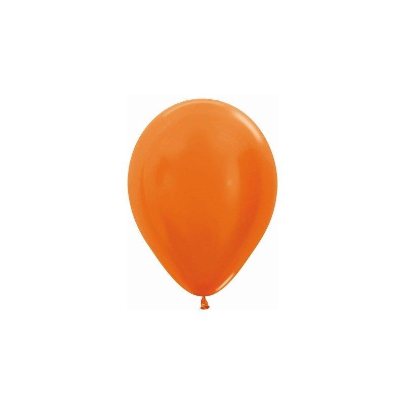 10 Globos metal Naranja. 30 cms