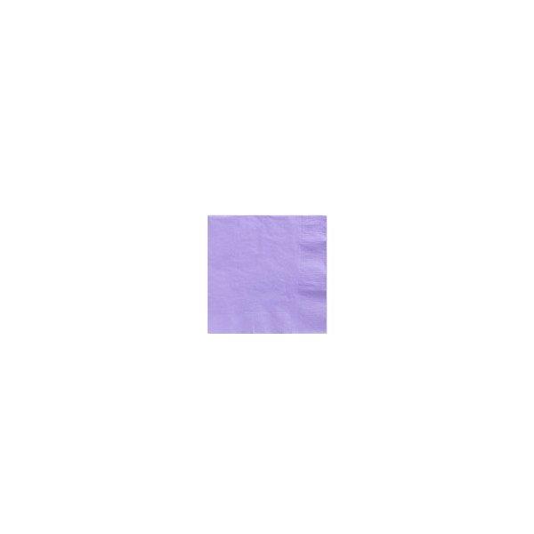 20 Servilletas de papel lila 25x25 cms