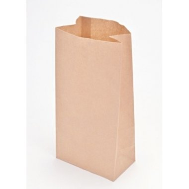 50 Bolsas de papel kraft, tipo americano. 10x6x27 cms.