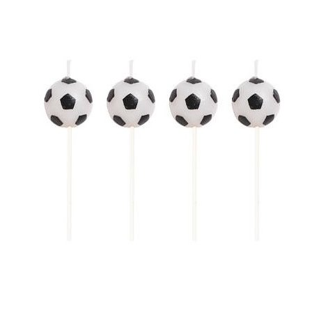 5 velas de cumpleaños, futbol.