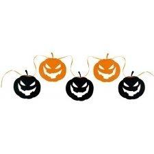 Guirnalda con calabazas de Halloween