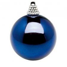 12 Bolas azules de Navidad. 6 cms
