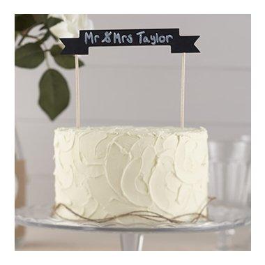 Guirnalda-topper para tarta. Pizarra