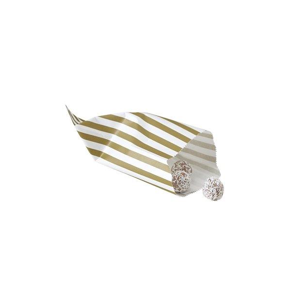25 Sobres/bolsas de papel raya oro 11.5x19.5