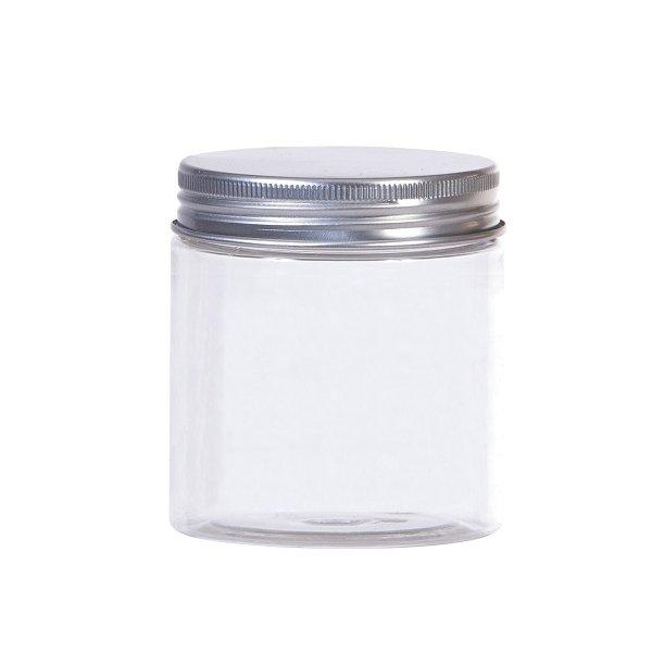 Bote-tarro de plástico transparente 7x9 cms.
