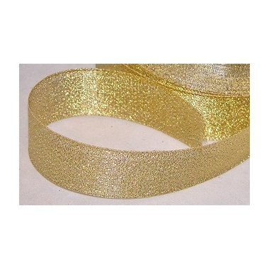 Cinta de regalo lurex oro 25 mm x 22.5 m