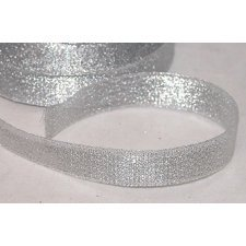 Cinta de regalo lurex plata 15 mm x 22.5 m