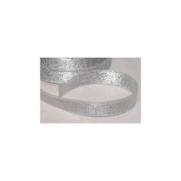 Cinta de regalo lurex plata 15 mm x 22.5 m