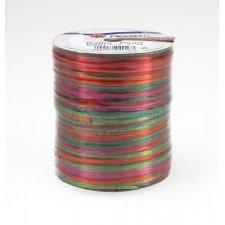 50 M Rafia multicolor brillo, rosa,verde y naranja