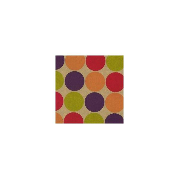 Bobina de papel de regalo, kraft lunares grandes de colores