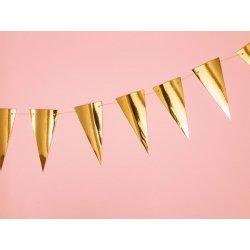 Guirnalda con banderines dorados