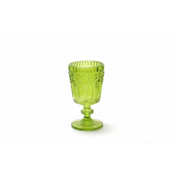 3 Porta velas, copa verde
