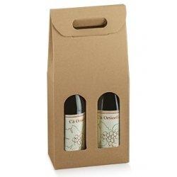 3 cajas para 2 botellas, kraf natural.