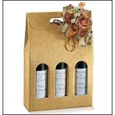 3 cajas para 3 botellas, kraft natural.