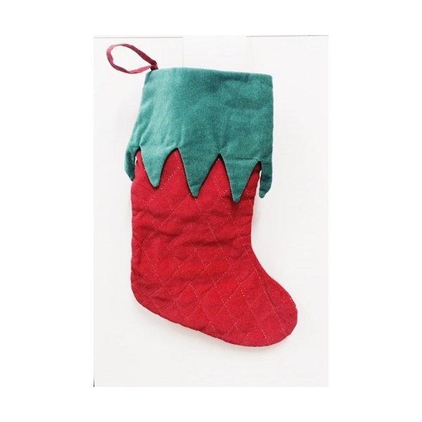 Como Decorar Calcetines Para Navidad.Calcetines Botas De Navidad Terciopelo Rojo Y Verde