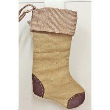 3 Calcetines-botas de Papa Noel rústicos. Navidad. Color surtido