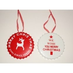 2 Chapas metálicas navideñas