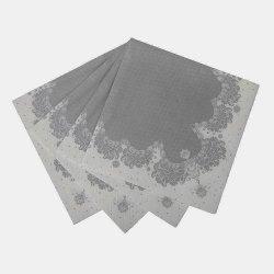 20 Servilletas plata/blanco 33x33 cms