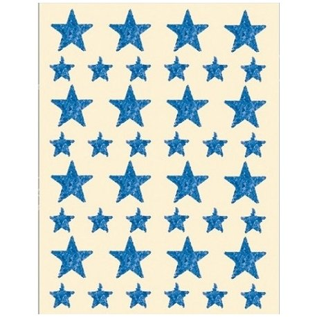 120 Estrellas adhesivas, holográficas, azules