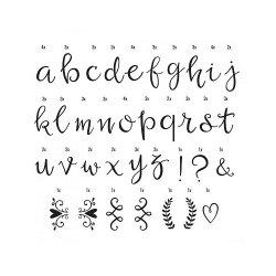 Set de 85 letras Script negras para lightbox