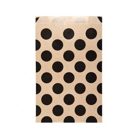 25 Sobres/bolsas de papel kraft, lunares negros 12x5x18 cms