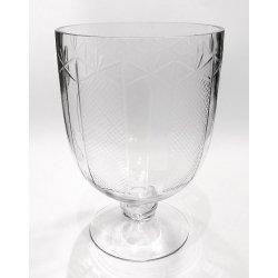 Copa de cristal tallado. 17x25 cms