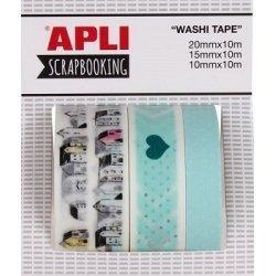 3 Rollos de washi tape, Mundo