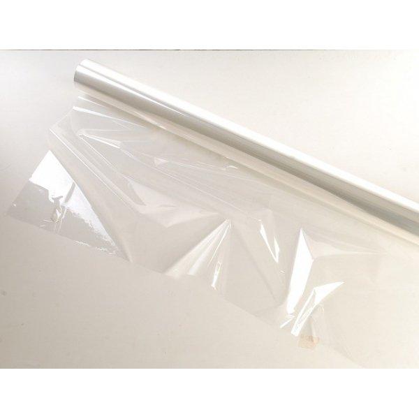 Bobina poli transparente, tipo celofán. 80 cms x 50 m