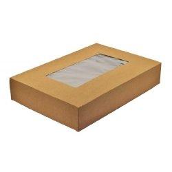 5 Cajas kraft con ventana 17x11.5x5 cms