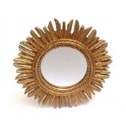 Espejo sol dorado, pequeño