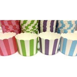 40 Tarrinas-cápsulas de papel para cupcakes, chuches ó helado. Color surtido
