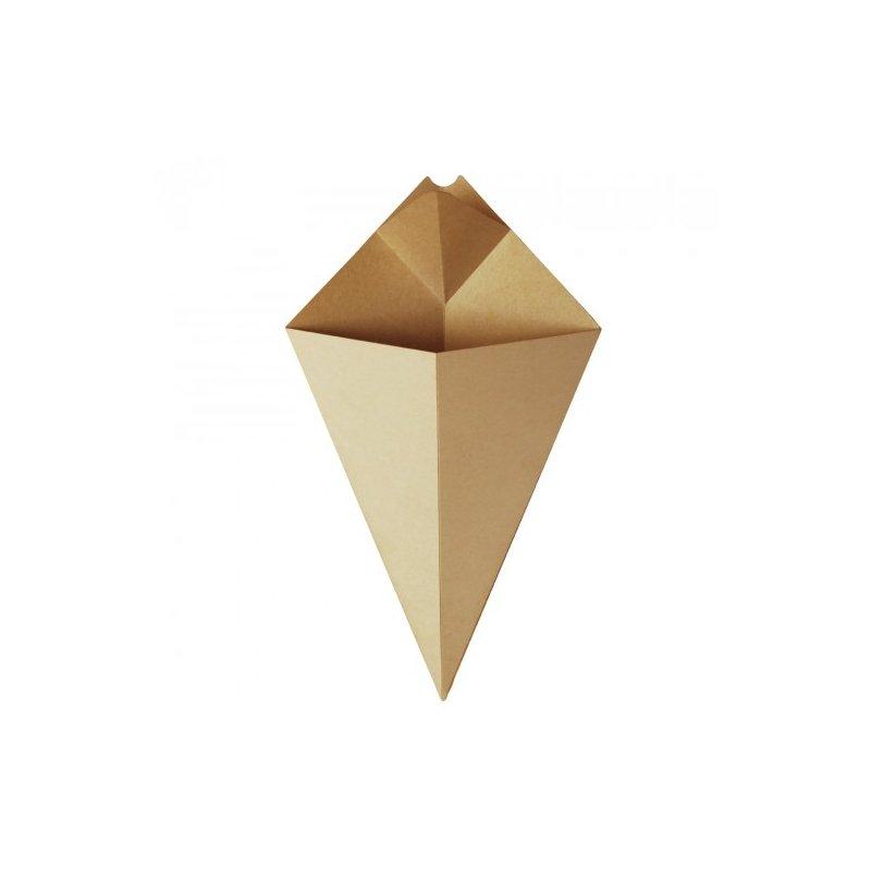 10 Conos-cucurucho de cartón kraft. 12x18 cms