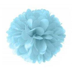 2 Pompones de papel de seda, azul claro. 25 cms