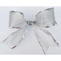 25 m de Cinta de regalo, plata 64mm
