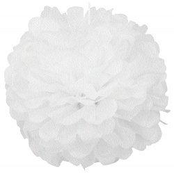 Pompones blancos 40 cms
