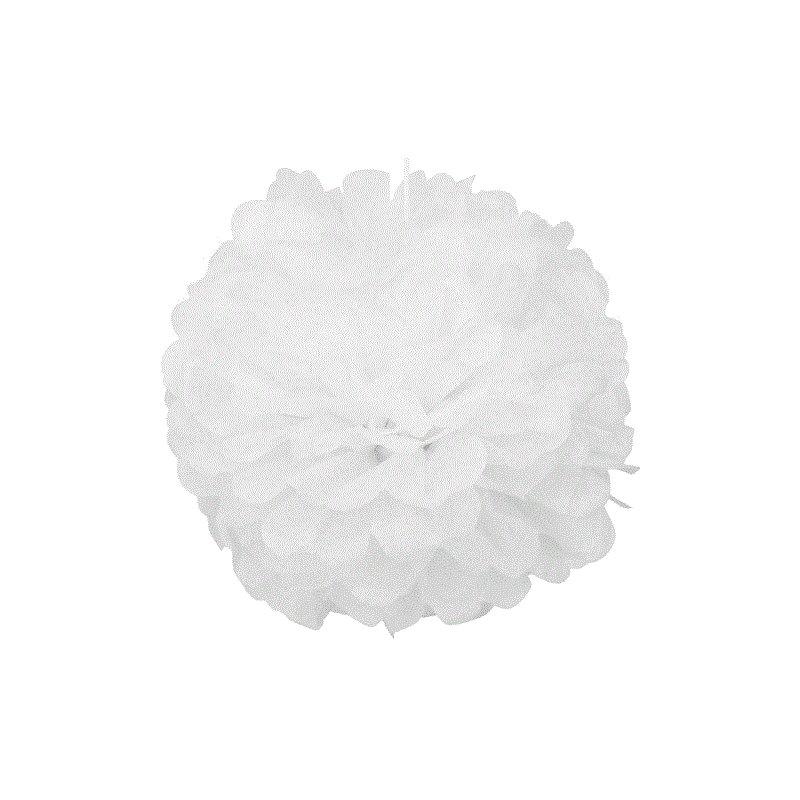Pompones blancos 25 cms